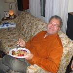 Jim Meyers at Carol Ruzicka's house-warming party