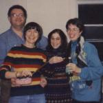 Jim Meyers, Bonnie Maky, Susan DeCamp, Sarah Adams at Joe Quittner's studio