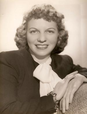 Publicity photo, 1945.