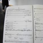 Page of Tan Dun's score.