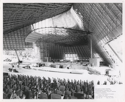 Construction of the orchestra shell