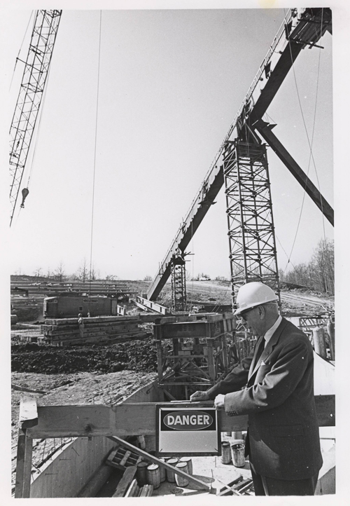 George Szell at construction site