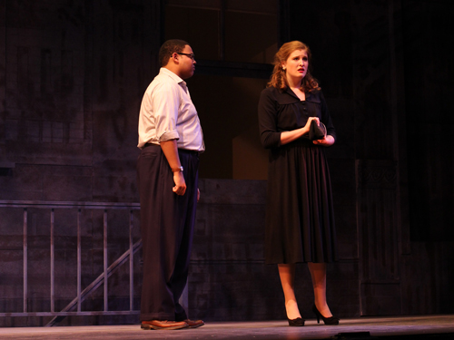 De'Ron McDaniel and Katherine Skayhan as Frank and Anna Maurrant.