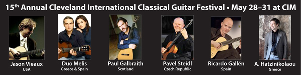 Cleveland International Classical Guitar Festival Site Banner