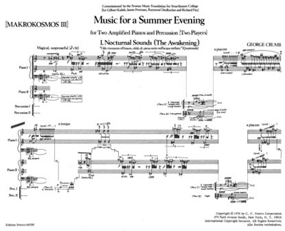 """Crumb's score for """"Music for a Summer Evening"""""""