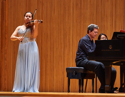 Gallia Kastner with pianist Nelson Padgett