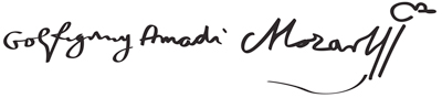 Mozart-signature