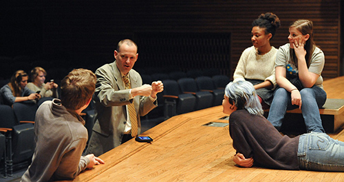 Garner with students