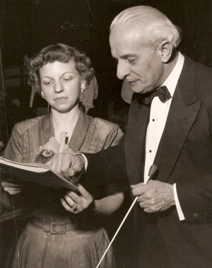 With conductor F. Karl Grossman, n.d.