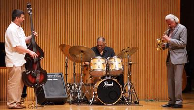 Oberlin jazz faculty: Peter Dominguez, bass, Gary Bartz, sax, Billy Hart, drums