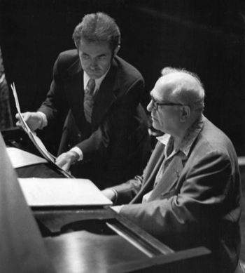 (Left: Paukert and Messiaen in Cleveland, 1978.)